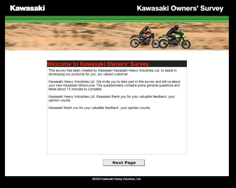 Kawasaki World Satisfaction Survey