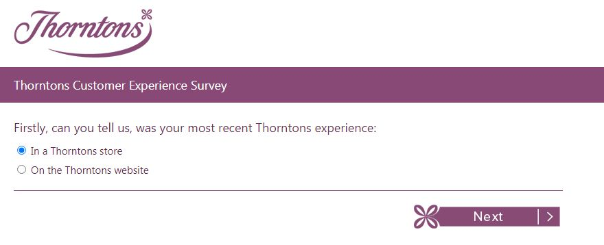 Thorntons Guest Opinion Survey